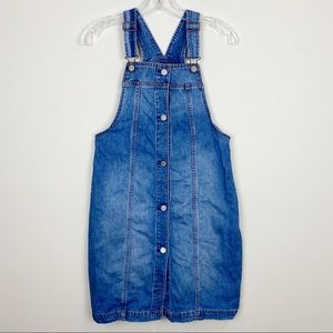 Gap Kids Demim Overall Dress with Button Front